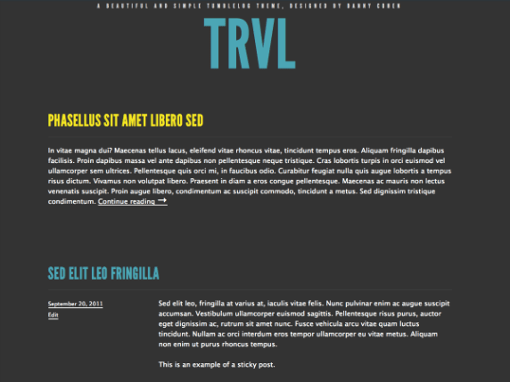 Trvl wordpress theme