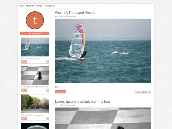 Tuesday free wordpress theme
