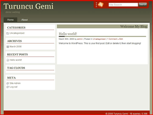 Turuncu Gemi free wordpress theme