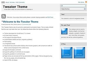 Tweaker - WordPress theme   WordPress org