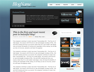 TweetMeBlue free wordpress theme