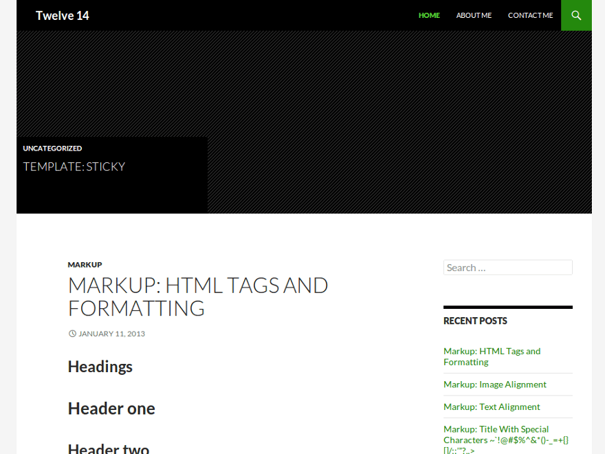 Twelve 14 free wordpress theme