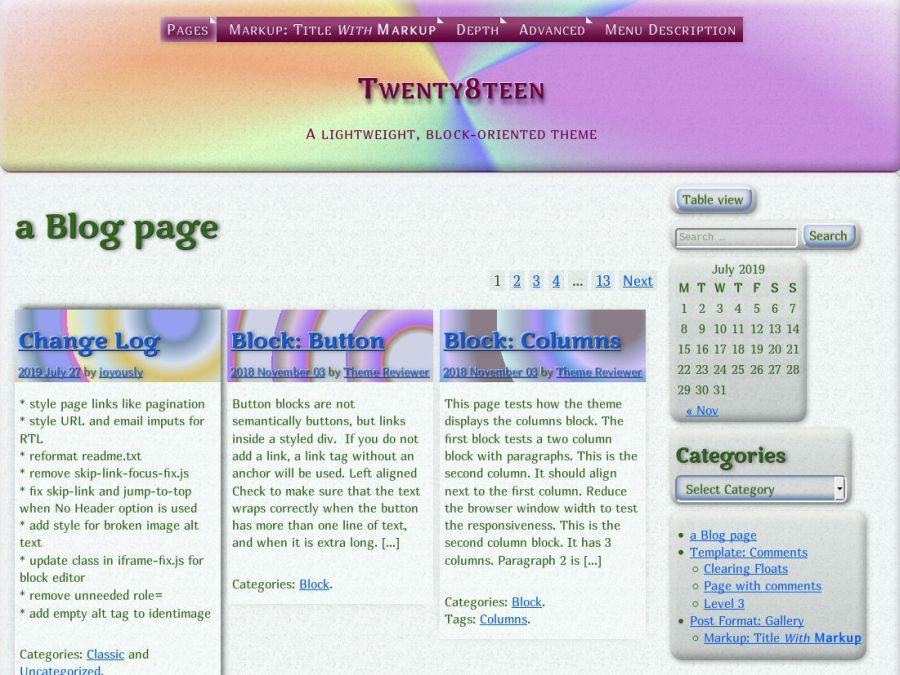 Twenty8teen - WordPress theme | WordPress org