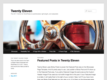 Twenty Eleven child theme