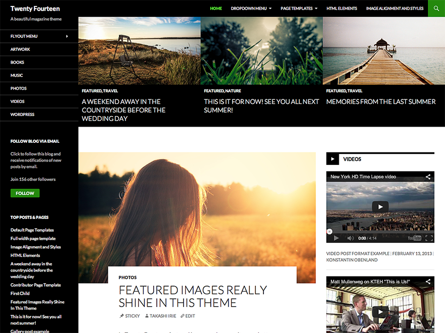 Twenty Fourteen theme wordpress gratuit