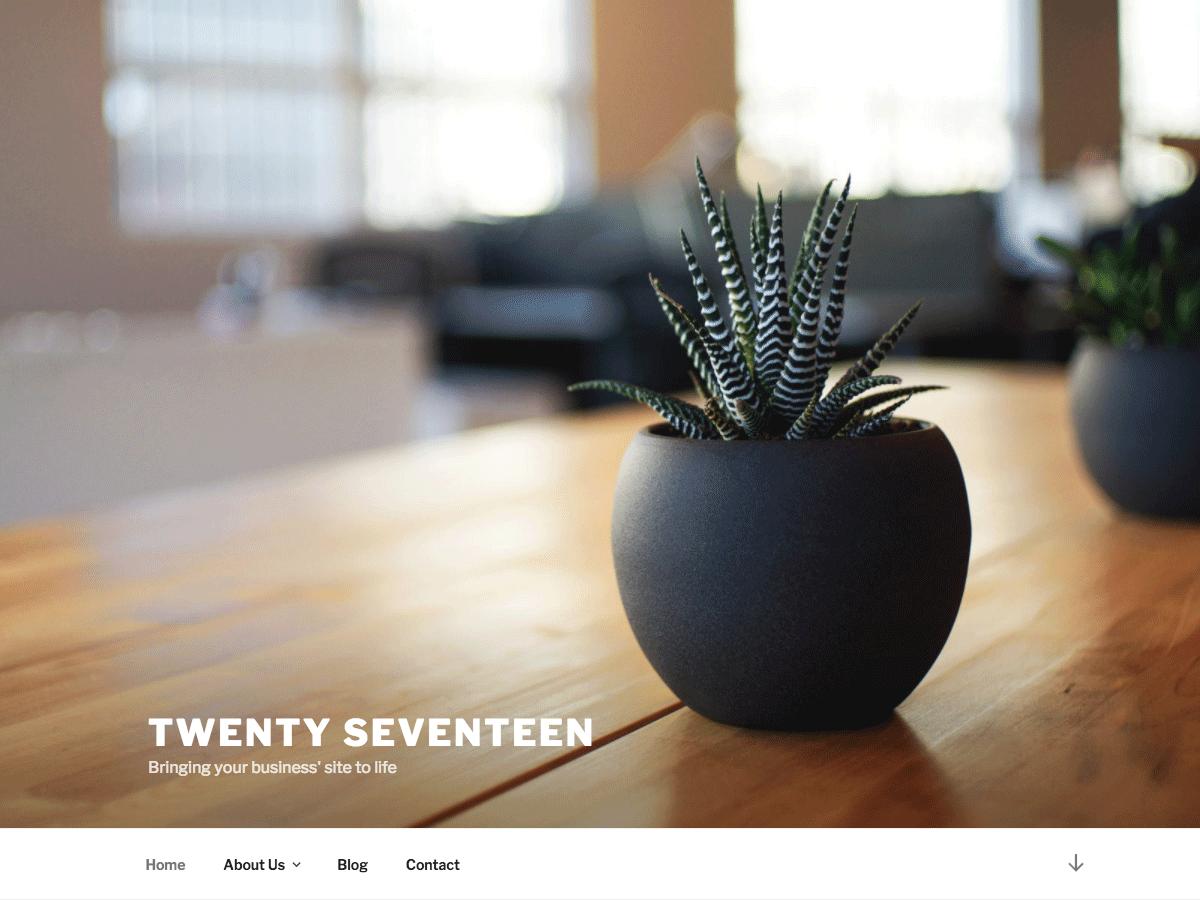 Wordpress šablona zdarma Twenty seventeen