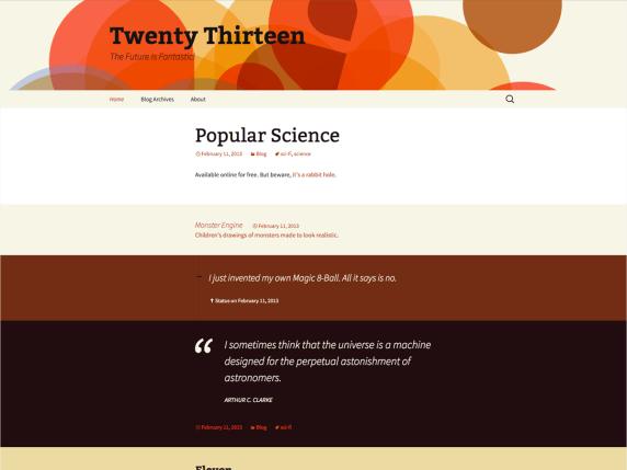 Twenty Thirteen | WordPress.org