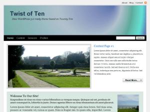Twist of Ten free wordpress theme