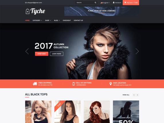Tyche Fashion Free woocommerce theme
