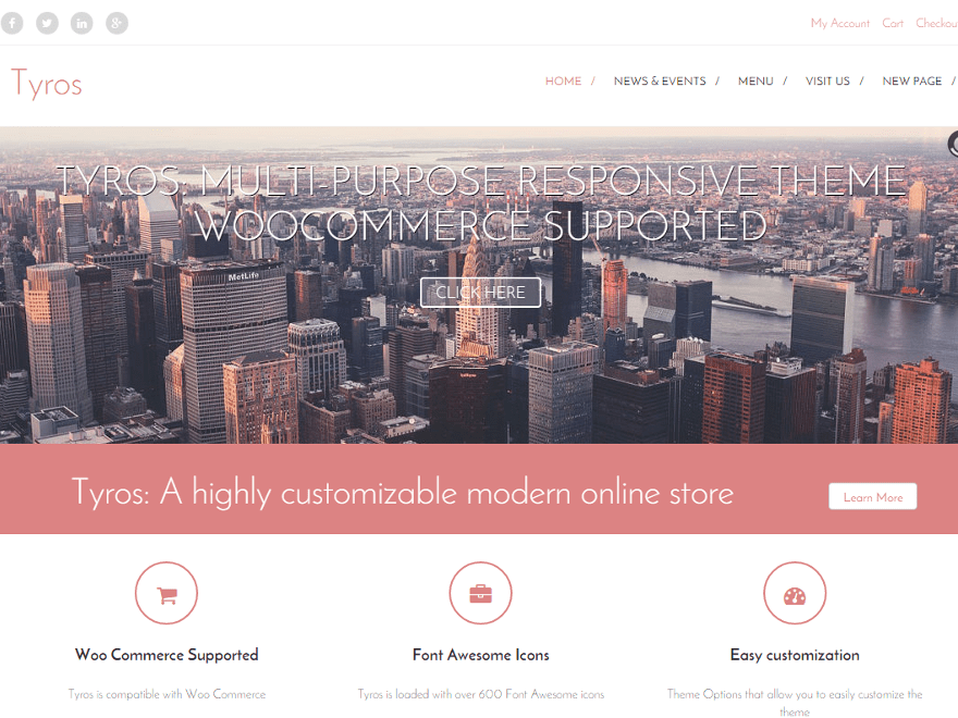 Tyros free wordpress theme