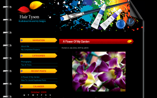 Tyson Black wordpress theme