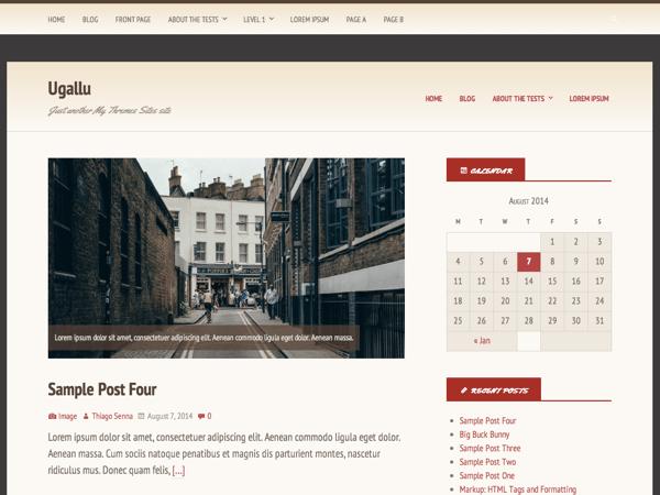 Ugallu free wordpress theme