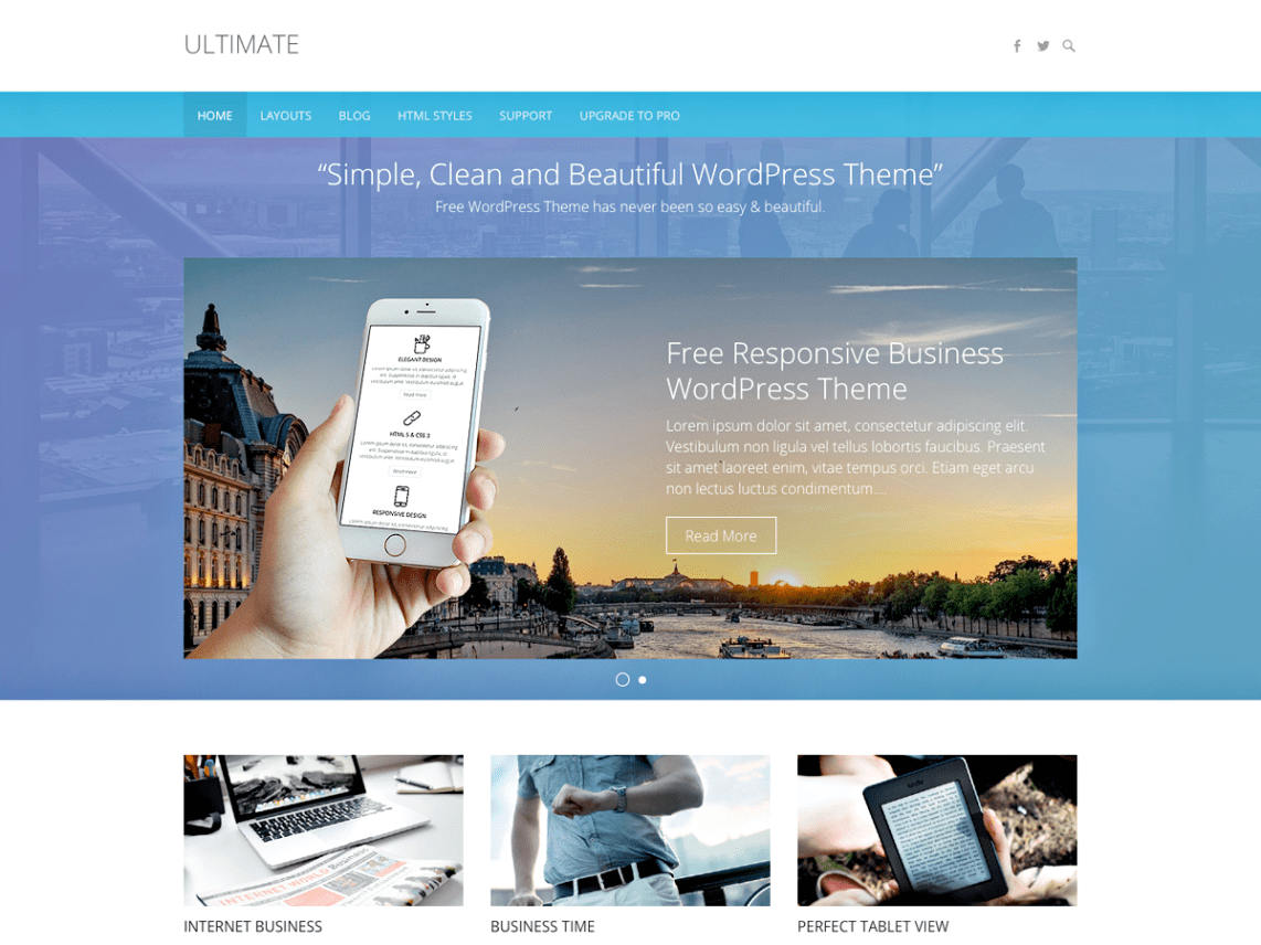 Ultimate theme wordpress gratuit