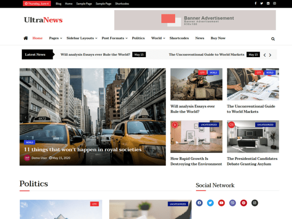 Ultra News WP Theme
