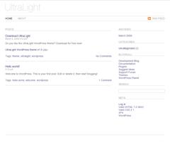UltraLight free wordpress theme