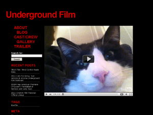 Underground Film wordpress theme