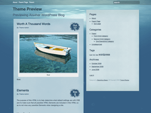 Underwater free wordpress theme
