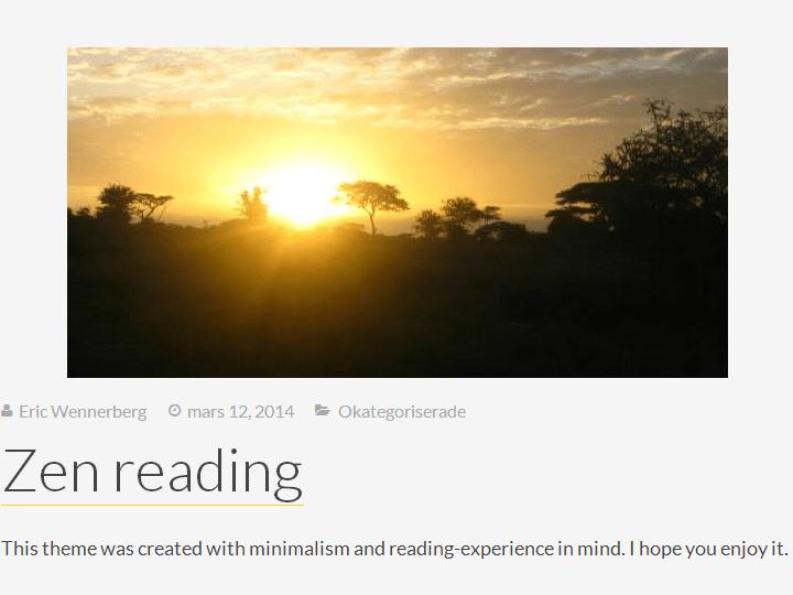Undistracted Zen theme wordpress gratuit