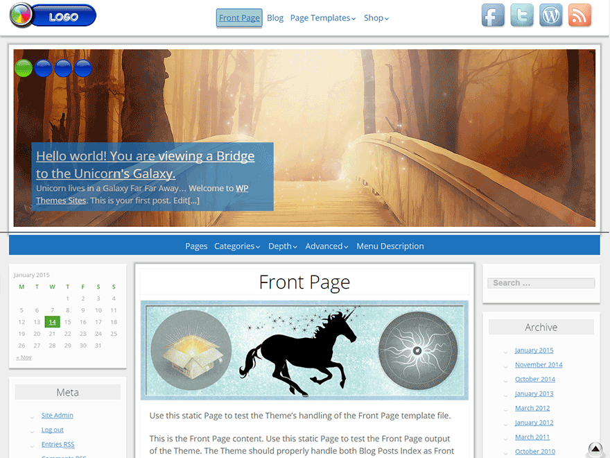 Unicorn free wordpress theme