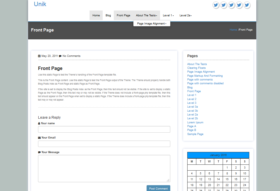 demo of Unik WordPress theme