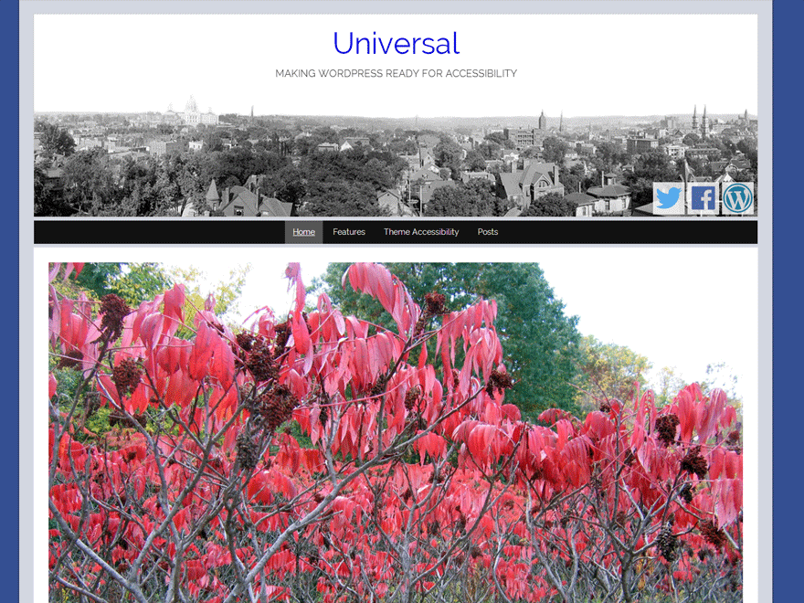 Universal free wordpress theme