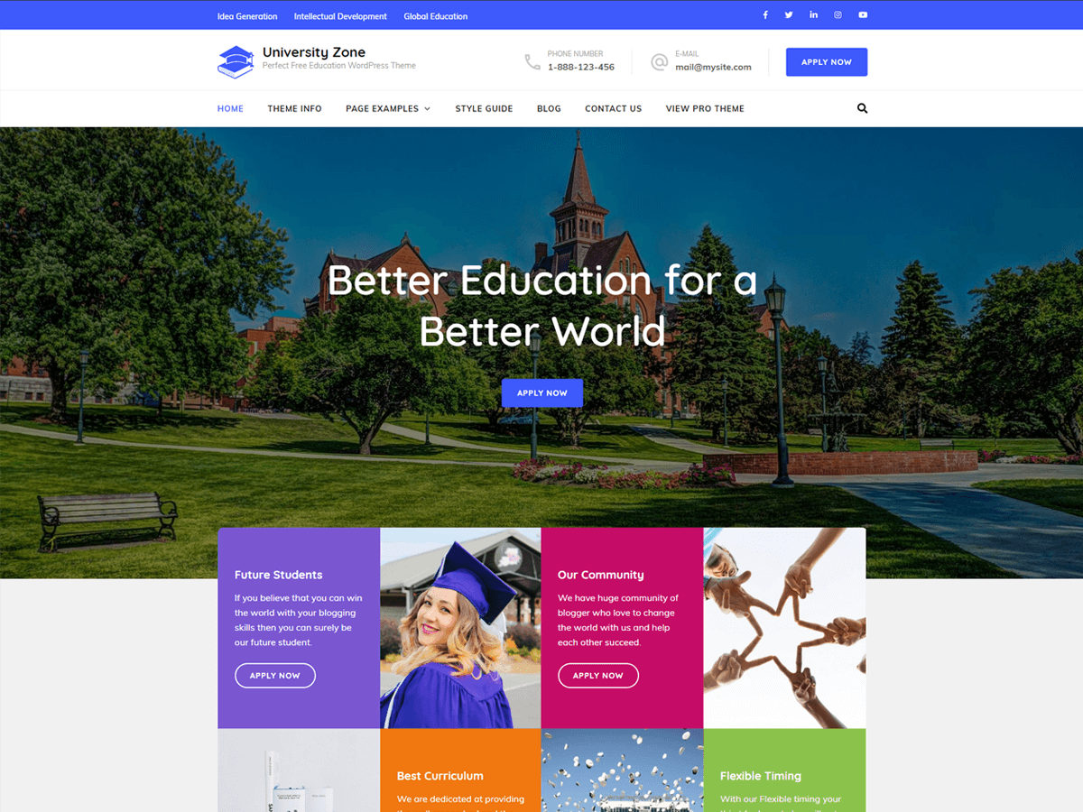 WordPress主题:University Zone