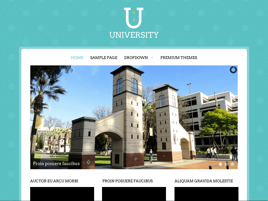 University free wordpress theme