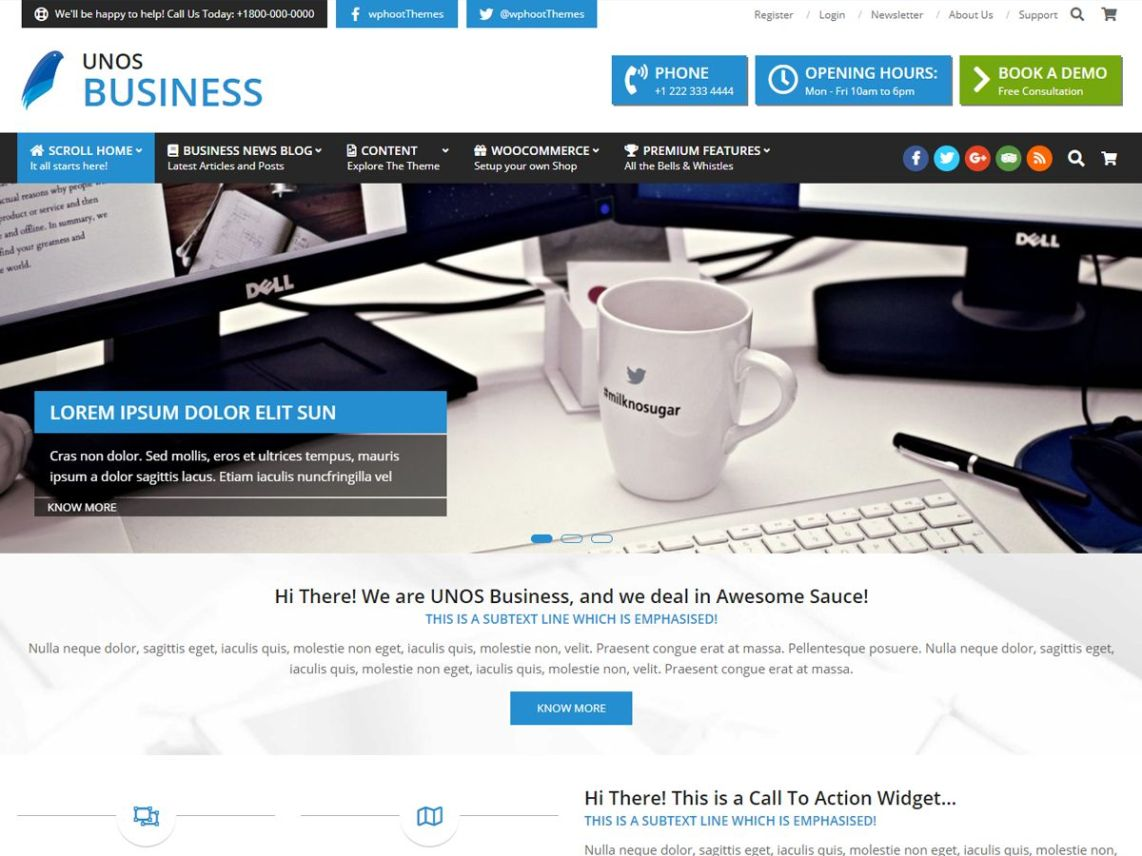 Unos Business Free WordPress Theme