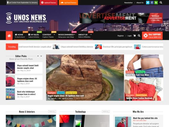 news newspaper theme Wordpress free
