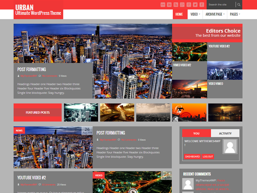 Urban Lite free wordpress theme