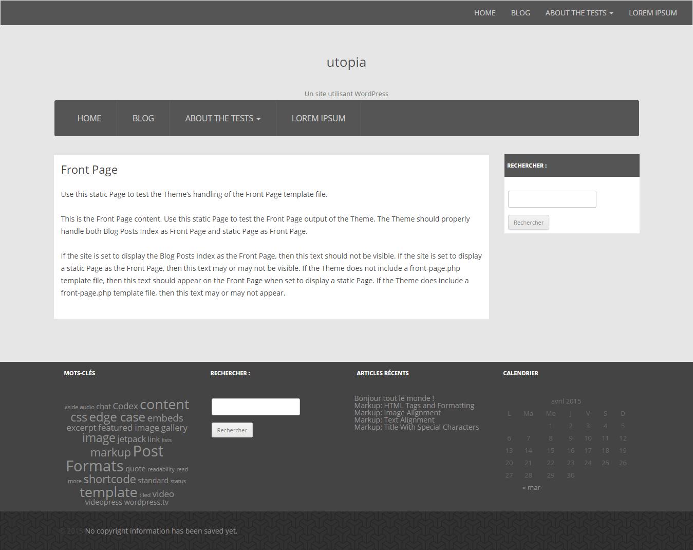 Utopia free wordpress theme