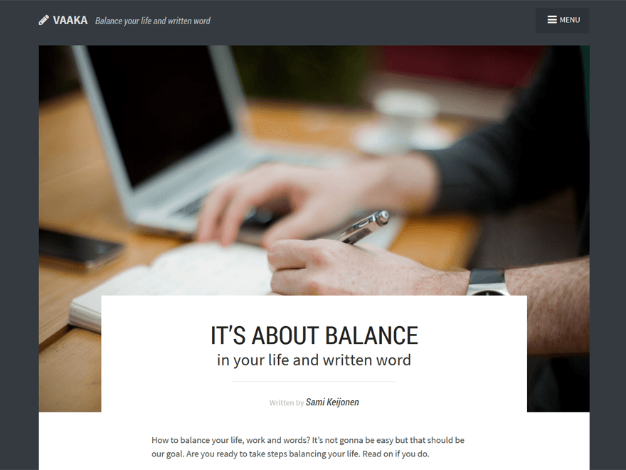 Vaaka free wordpress theme