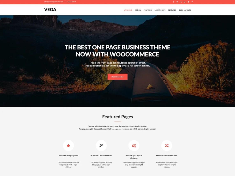 Vega – Kostenlose WordPress-Themes