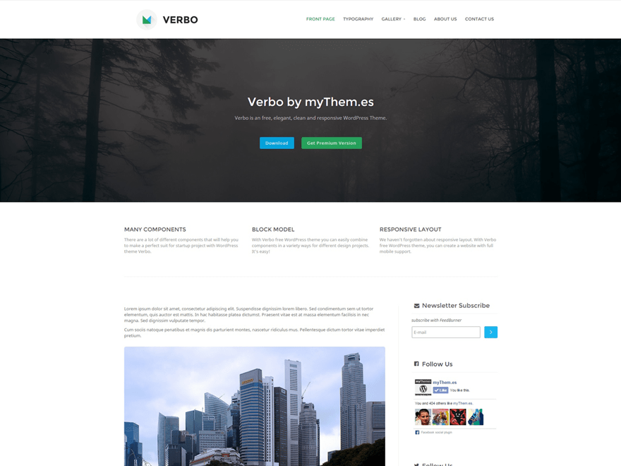 Verbo free wordpress theme