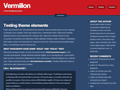 Vermillon wordpress theme
