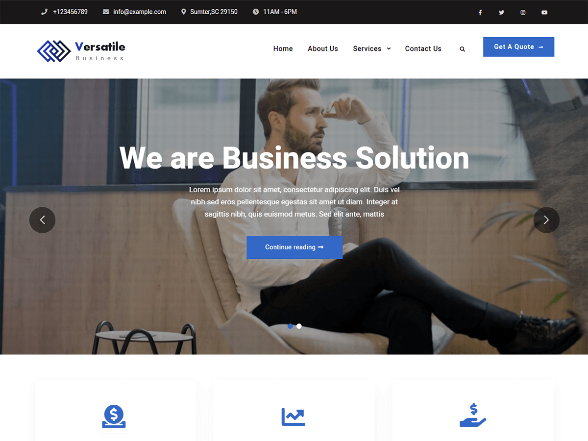 Versatile Business - WordPress theme | WordPress.org Azərbaycan dili
