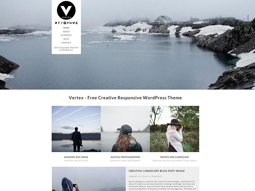 Las 5 mejores plantillas gratuitas para WordPress: Vertex