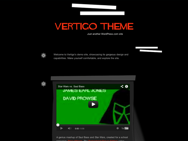Vertigo free wordpress theme