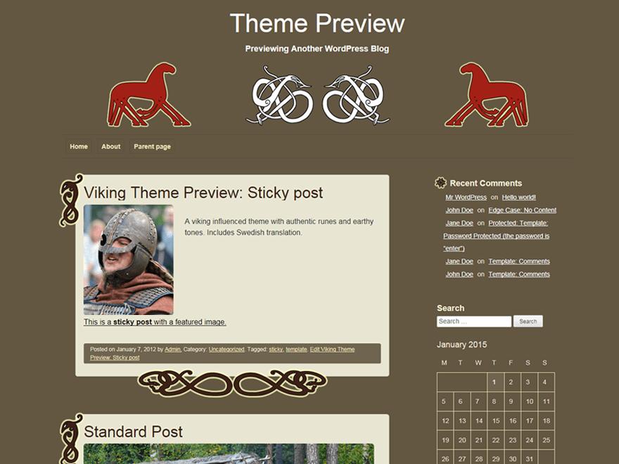 viking — Free WordPress Themes