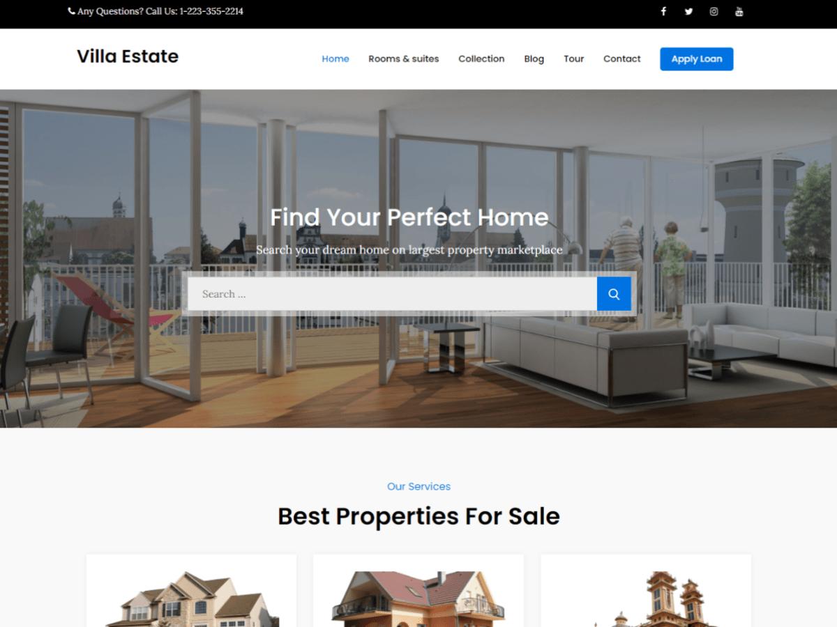 Villa Estate Real Estate WordPress Theme