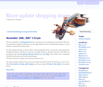 Violinesth free wordpress theme