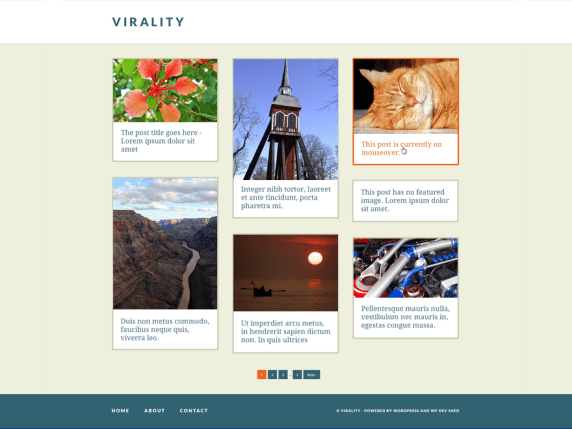 Virality wordpress theme