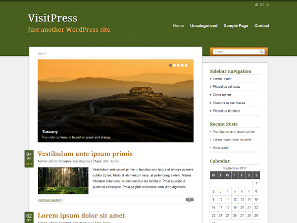 VisitPress free wordpress theme