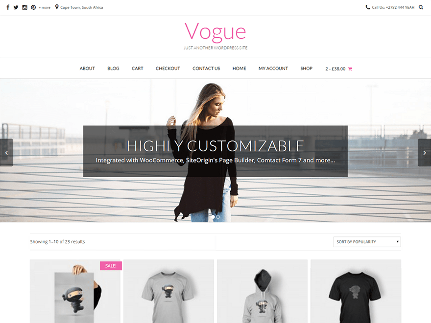 Vogue free wordpress theme