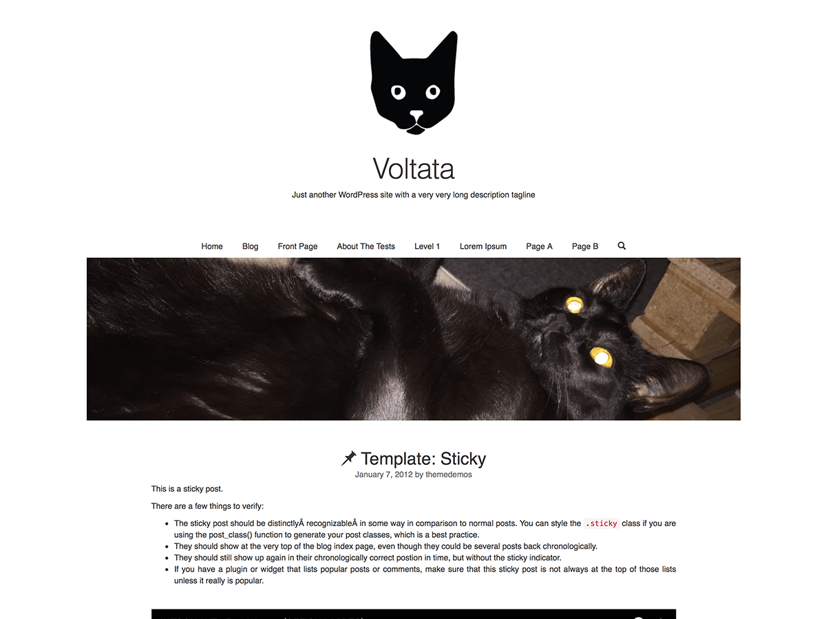 voltata free wordpress theme