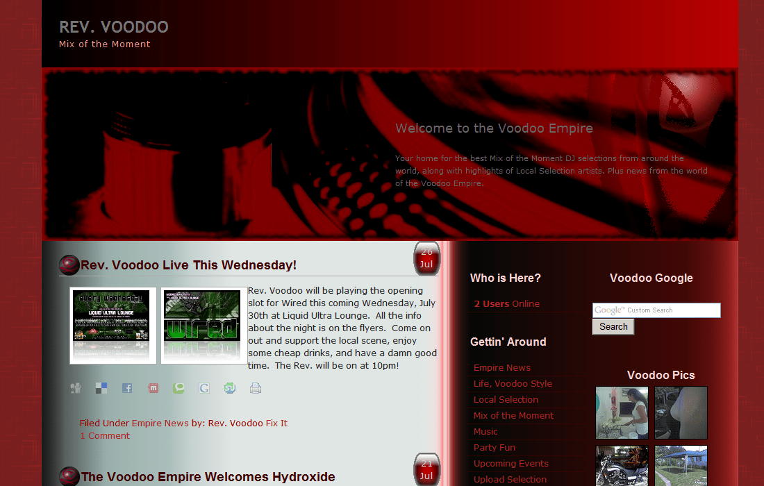 Voodoo Empire 2 free wordpress theme