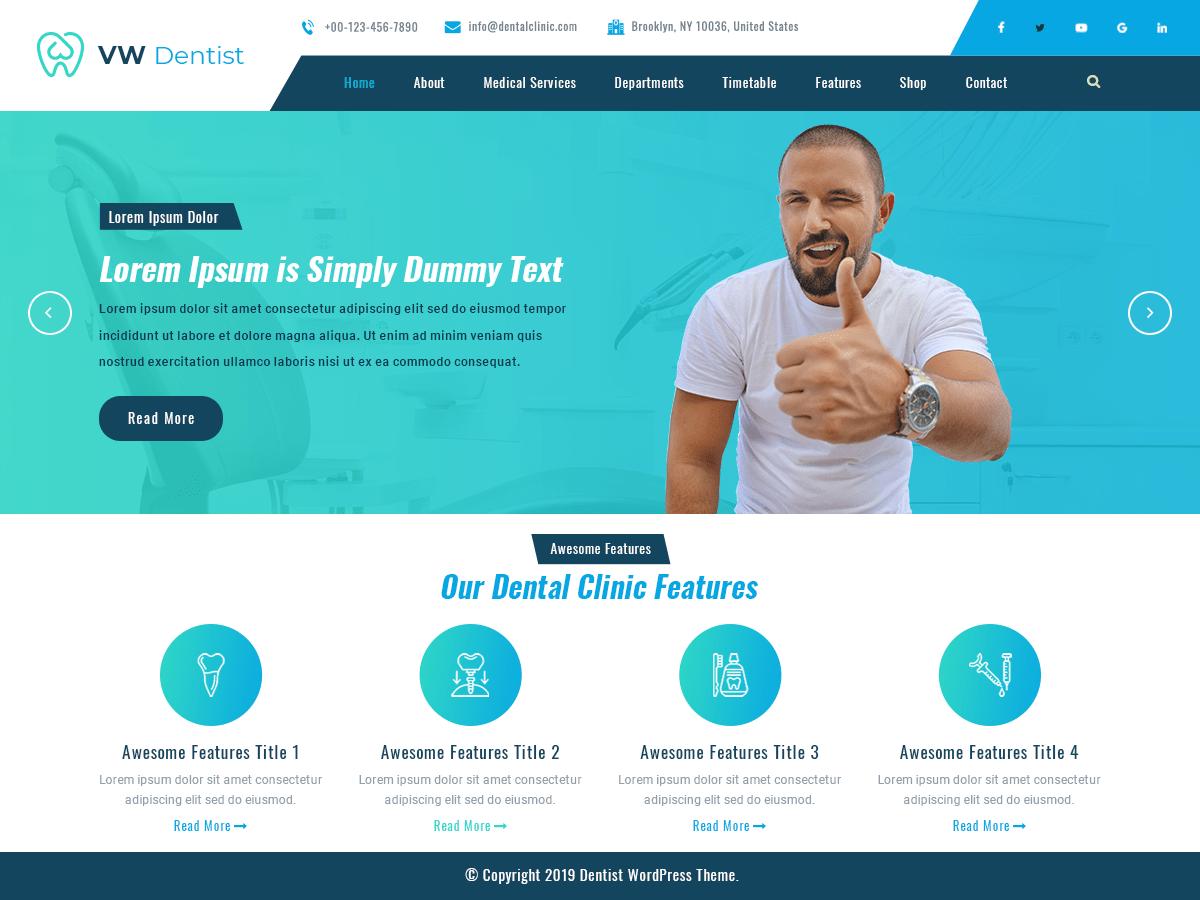 WordPress主题:VW Dentist