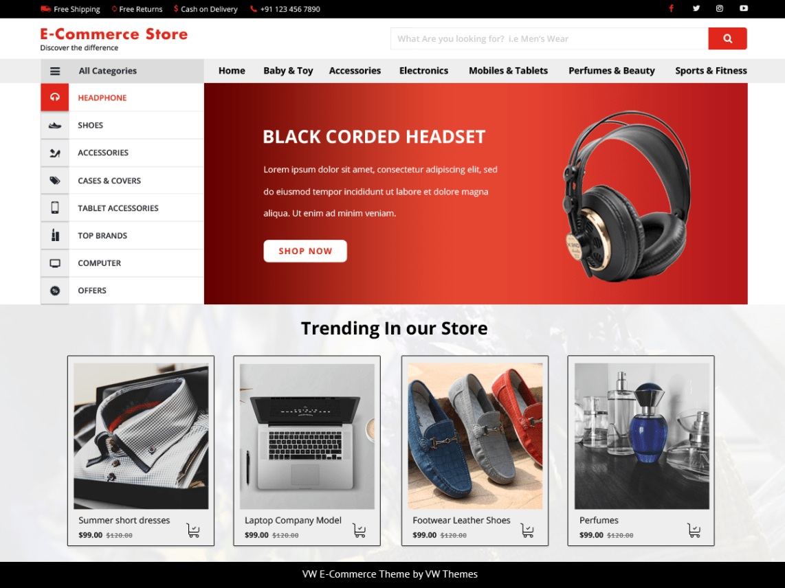 VW Ecommerce Shop Theme Free Download