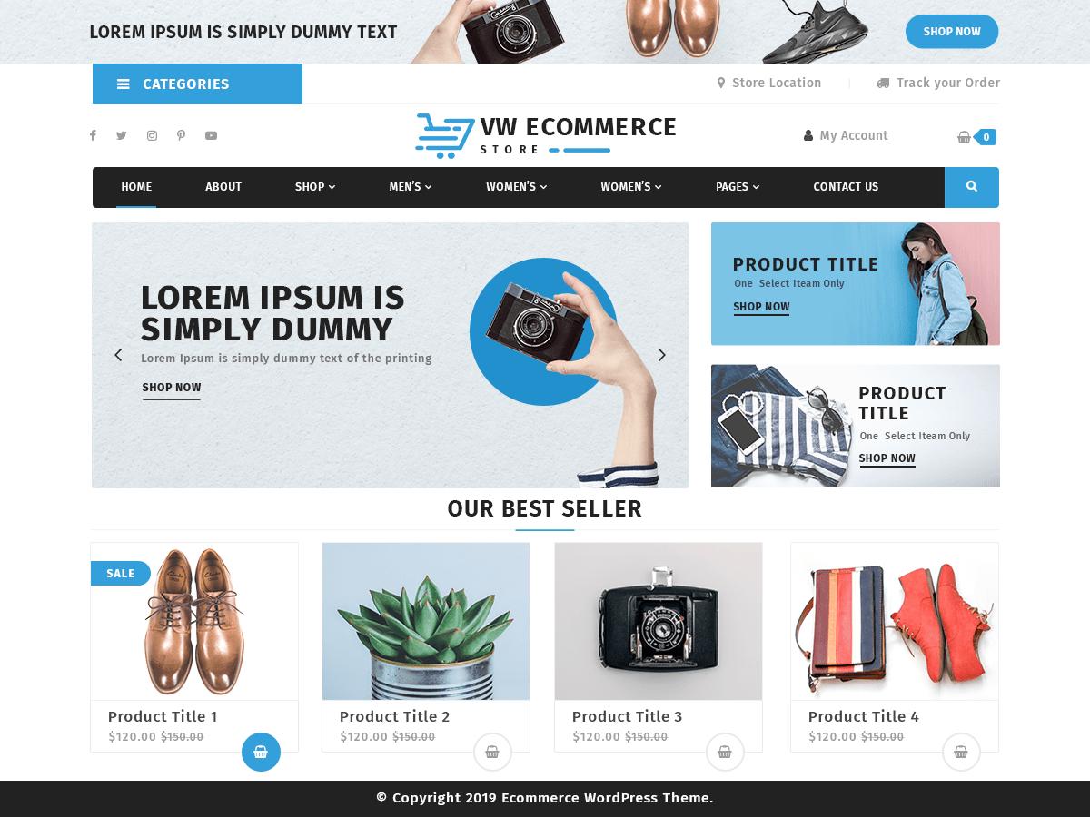 WordPress主题:VW Ecommerce Store