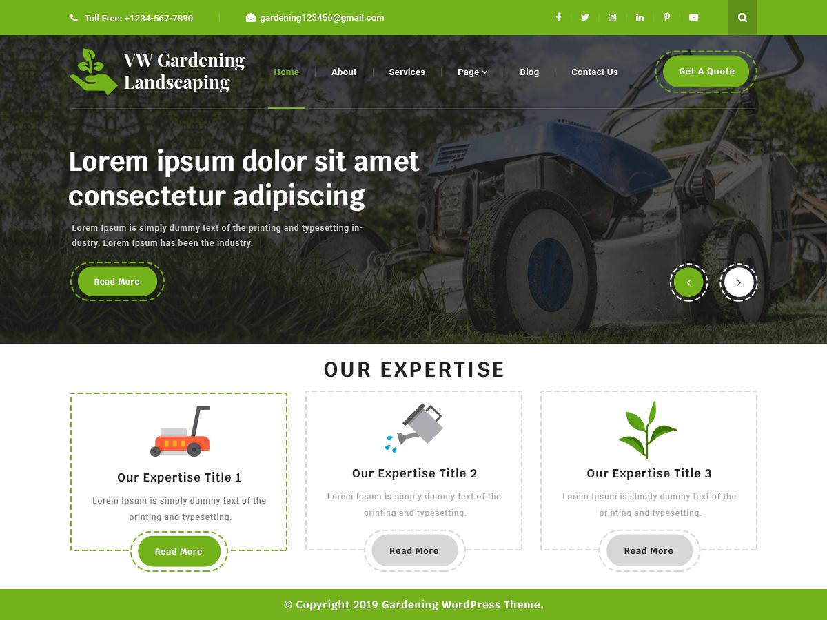 WordPress主题:VW Gardening Landscaping